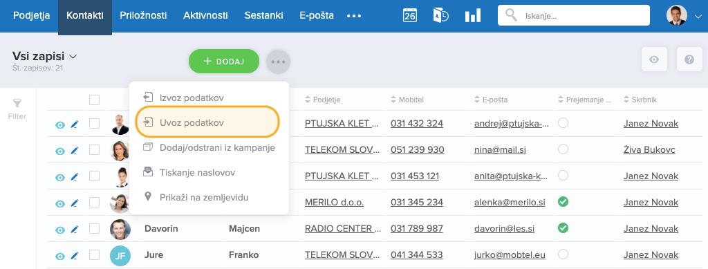 Uvoz-podatkov-kontakti