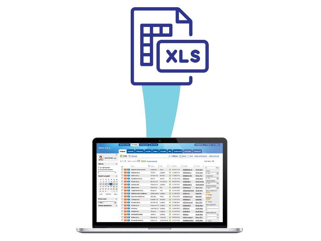 Uvoz podatkov iz excela v Intrix CRM