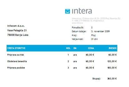 primer ponudbe v pdf v sistemu intrix