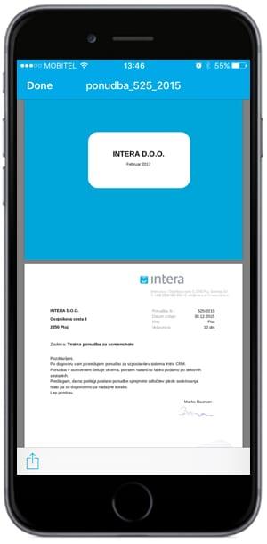 poslovna dokumentacija na mobilni napravi