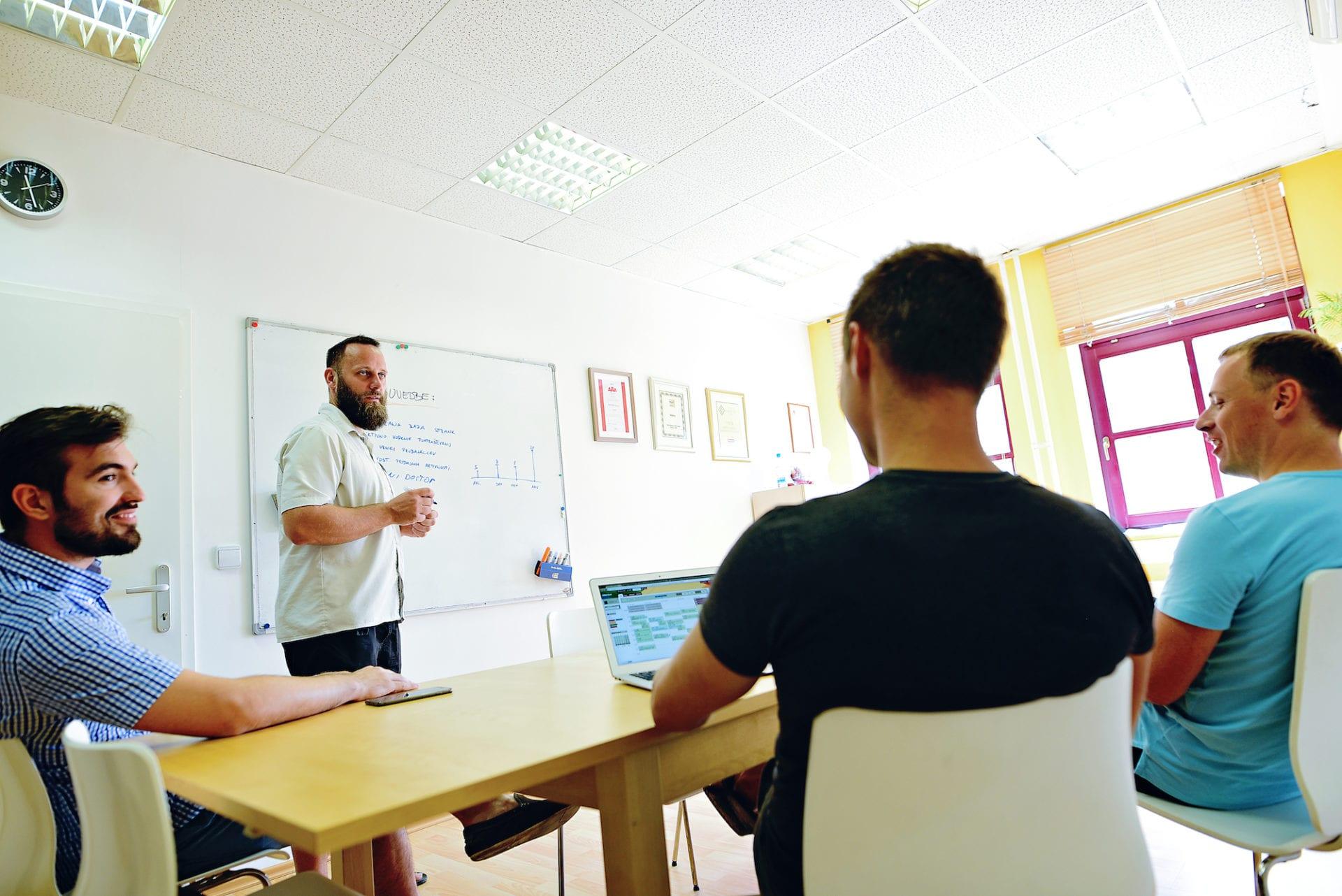 vodja projektov s sodelavci