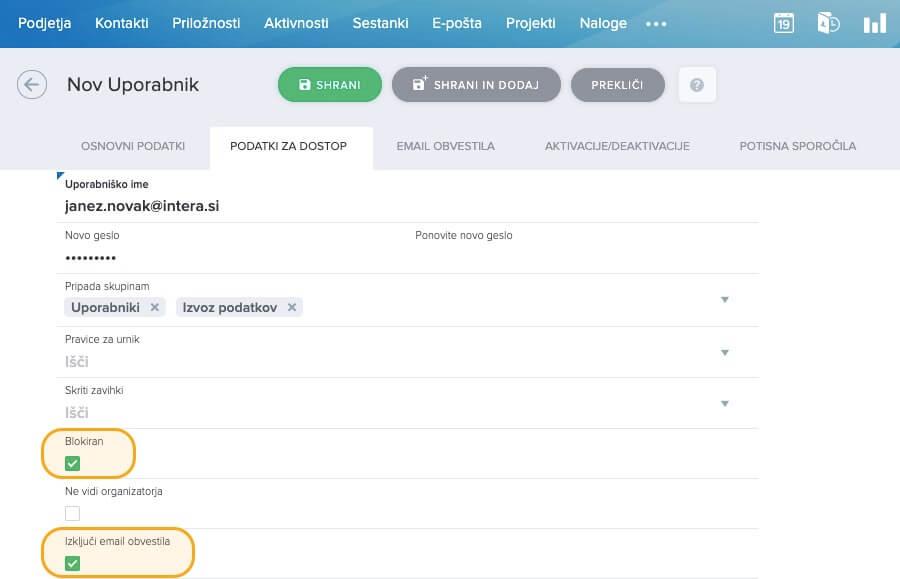 Uporabnik-izključi-email-blokiran