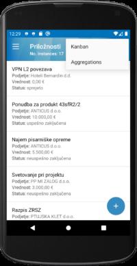 Andorid mobilna aplikacija Intrix