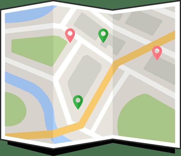 prikaz strank za zemljevidu
