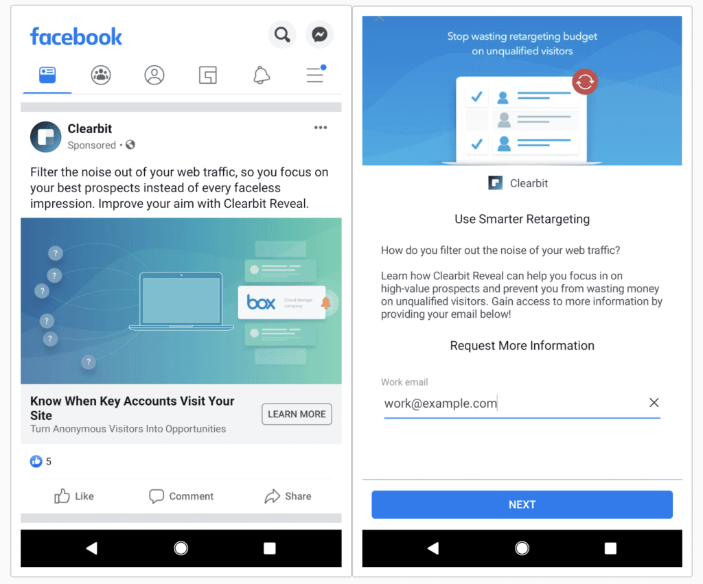 facebook lead ads oglas
