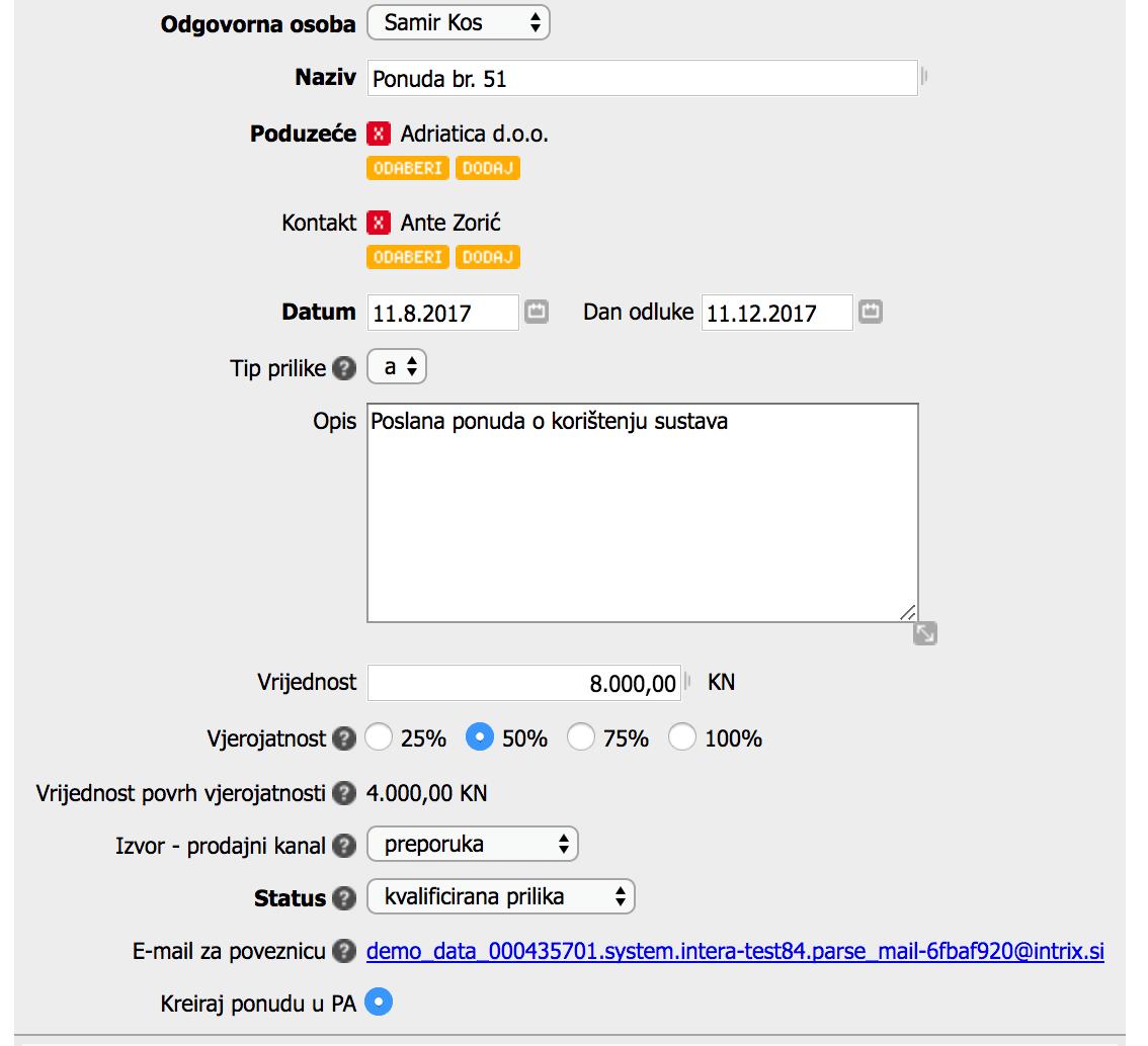 Jednosmjerna sinkronizacija ponuda Pantheon -> Intrix