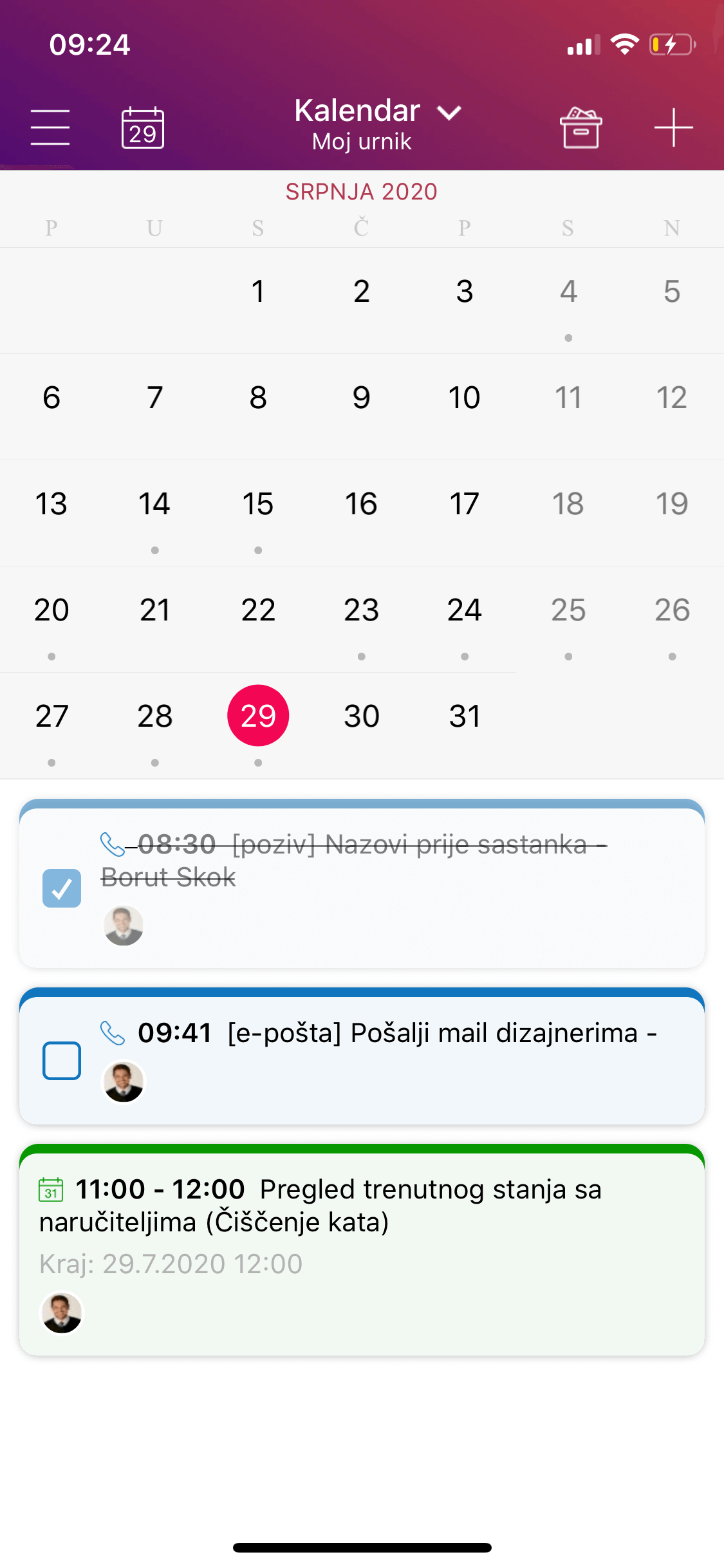 crm calendar