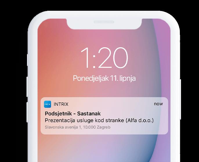 podsjetnici aktivnosti sms push e-mail