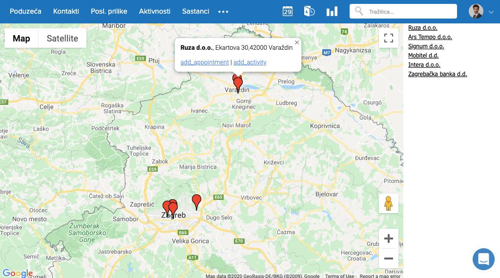 Poduzeća-map